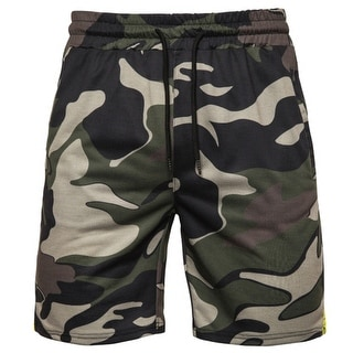 Men's Camouflage Short Classic Fit Casual Jogger Gym Workout Short With Elastic Waist
