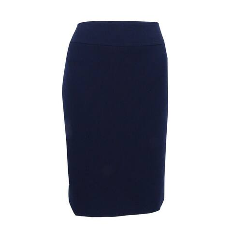 Tahari ASL Women's Ponte Pencil Skirt - Navy