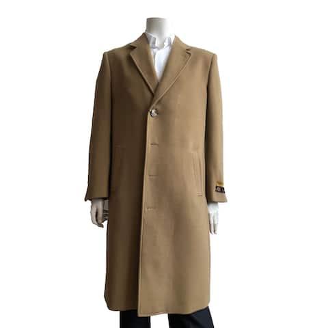 Mens Full Length 4 button Wool Overcoat