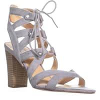 XOXO Balta Strappy Lace-Up Sandals, Grey