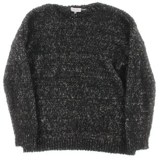 Calvin Klein Womens Textured Crew Neck Pullover Sweater