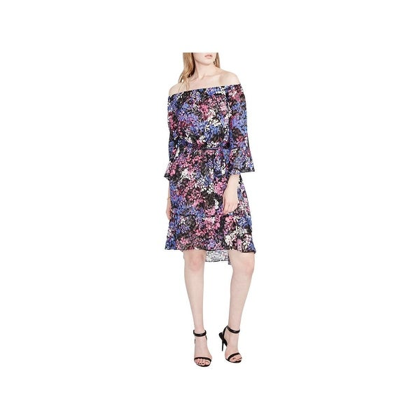 Shop Rachel Rachel Roy Womens Party Dress Off-the-Shoulder Floral Print - Free  Shipping On Orders Over  45 - Overstock.com - 22992909 ca504734558c