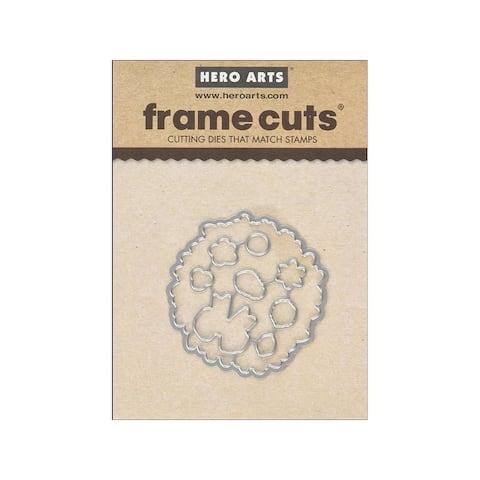 Di152 hero arts die frame cuts cl wreath
