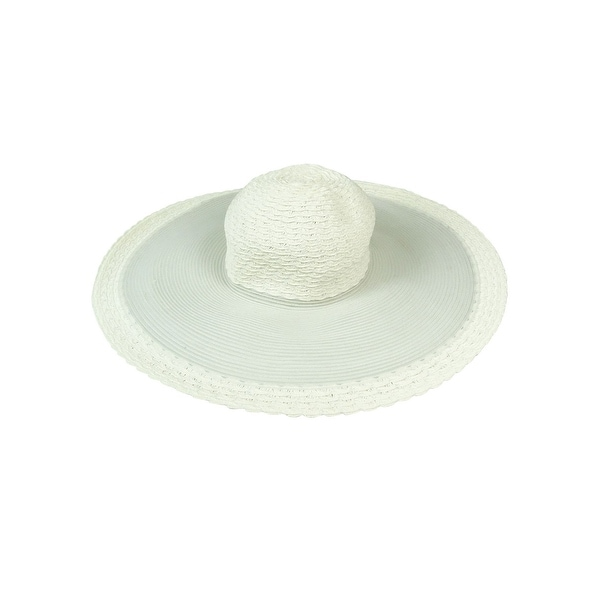 43f2ad80e68 Shop Nine West Women s Sheer Mesh Woven Floppy Hat - Ivory - os - On Sale -  Free Shipping On Orders Over  45 - Overstock.com - 15017619