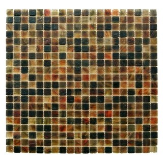 "Miseno MT-SIENNA5/8SQ Sienna - 5/8"" X 5/8"" - Glass Visual - Wall Tile (Sold by Sheet) - N/A"