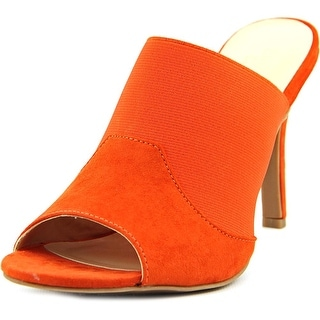 Ann Marino by Bettye Muller Dara Women Open-Toe Synthetic Orange Mules