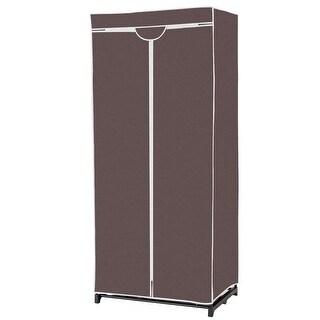 Non-woven Fabric Wardrobe Storage Portable Clothes Closet - Brown