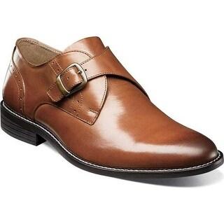 Nunn Bush Men's Sabre Monkstrap Cognac Leather
