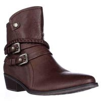 BareTraps Minay Multi Strap Ankle Boots, Brush Brown