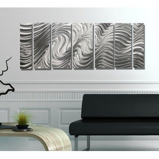 Statements2000 Silver Metal Wall Art Panels Indoor/Outdoor by Jon Allen - Hypnotic Sands