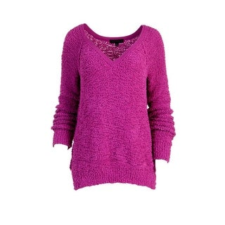 Sanctuary Womens Boucle Knit V-Neck Sweater - S