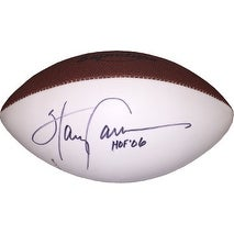 Harry Carson signed Wilson Signature White Panel Football HOF 06 ink spot (New York Giants)