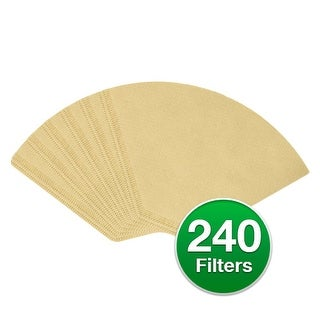"""Replacement Coffee Paper Filter for Braun 624412 / #4 Cone Filters (6-Pack) Replacement Filter"""