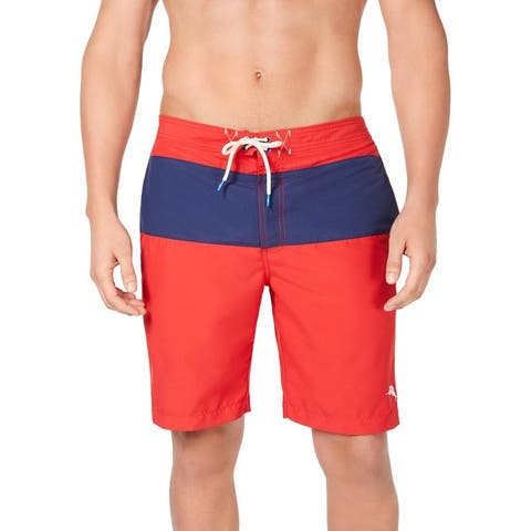 Tommy Bahama Mens Botticell Colorblock Above Knee Board Shorts - Ribbon Red