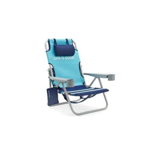 Life Is Good Beach Chair with Silver Frame