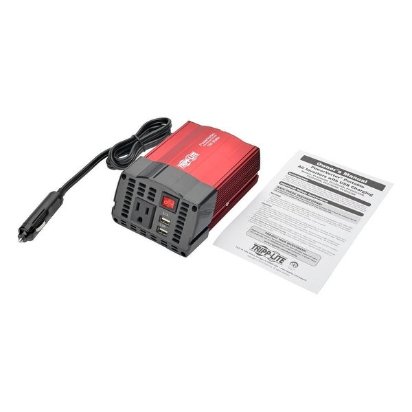 Tripp Lite Pv150usb 150W Ultra-Compact Car Power Inverter W/Ac Outlet/2 Usb Charging Ports
