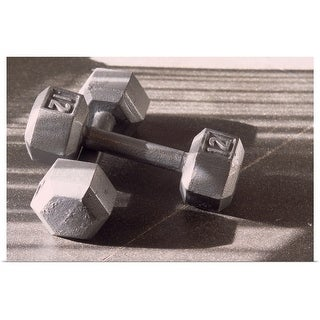 """Link to """"Still life of dumbells, free weight"""" Poster Print Similar Items in Fitness & Exercise Equipment"""
