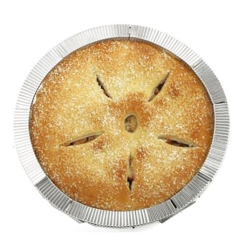 """Norpro 5 Piece Reusable Aluminum Pie Crust Shield - Fits Up To 10"""" Pans"""