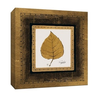 "PTM Images 9-153173  PTM Canvas Collection 12"" x 12"" - ""Gilded Poplar"" Giclee Leaves Art Print on Canvas"