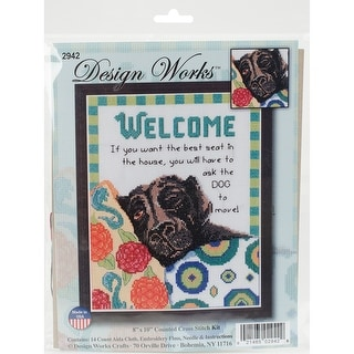 Tobin 14 Count Kitty Trio Counted Cross Stitch Kit 12 by 12-Inch