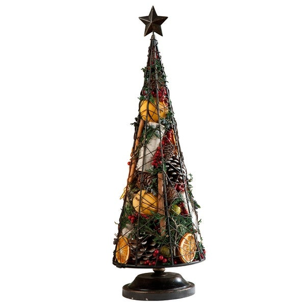 Holiday Spice Tree- Metal Wire Tree Filled with Potpourri - Holiday Decor - 7 in. x 20 in.. Opens flyout.