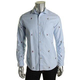 Tommy Hilfiger Mens Cotton Custom Fit Button-Down Shirt