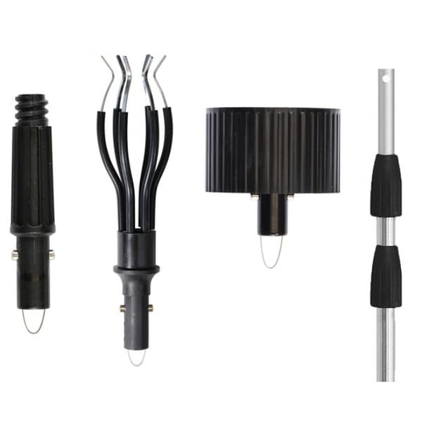 Unger 91005R Light Bulb Changer Kit with 11' Telescopic Pole, 3-Piece