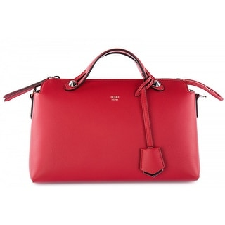 "FENDI 'Medium by The Way' Convertible Leather Shoulder Bag - Red - 6"" x 11"" x 5"""