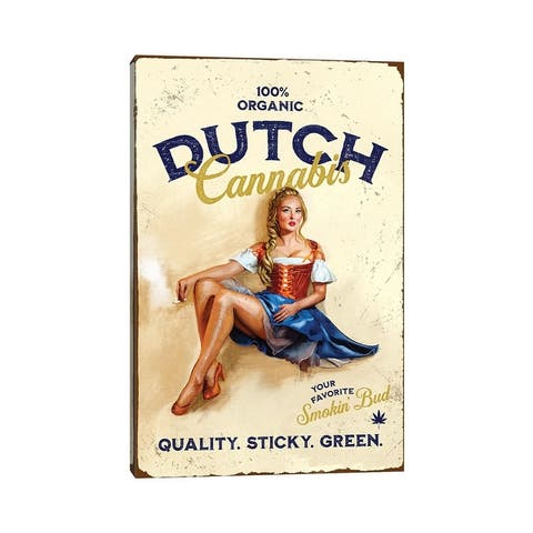 """iCanvas """"Dutch Cannabis"""" by The Whiskey Ginger Canvas Print"""