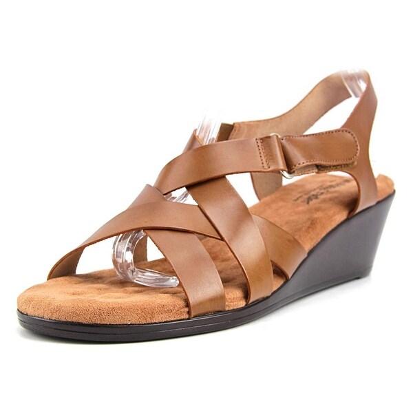 Walking Cradles Newton Women Open Toe Leather Wedge Sandal