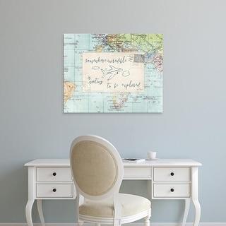 Easy Art Prints Katie Pertiet's 'Travel Posts IV' Premium Canvas Art