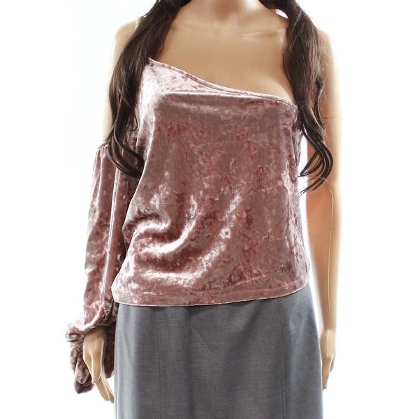 Leith Velvet One-Shoulder Women's Large Top Blouse
