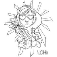 """Bloom Cling Rubber Stamps 8""""X6""""-Goldie"""
