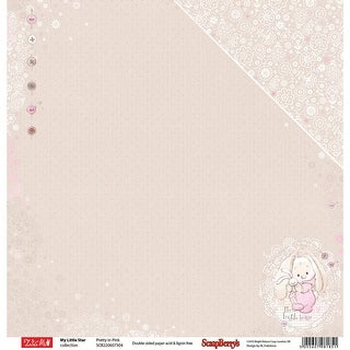 "Scrapberry's My Little Star Double-Sided Cardstock 12""X12""-Pretty In Pink"