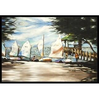 Carolines Treasures JMK1077JMAT Sailing Lessons Sailboats Indoor & Outdoor Mat 24 x 36 in.