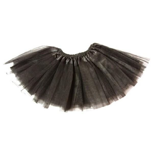 Baby Girls Black Satin Elastic Waist Ballet Tutu Skirt 0-12M