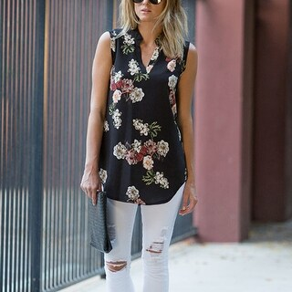 Full Bloom' Sleeveless Floral Top (More options available)