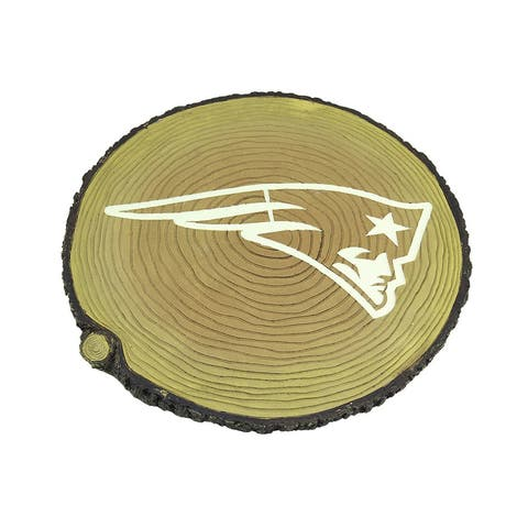 NFL New England Patriots Glow in the Dark Tree Stump Stepping Stone - 0.75 X 12 X 12 inches