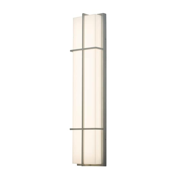Avenue 1-light Textured Grey LED Outdoor Sconce, White Acrylic Shade. Opens flyout.