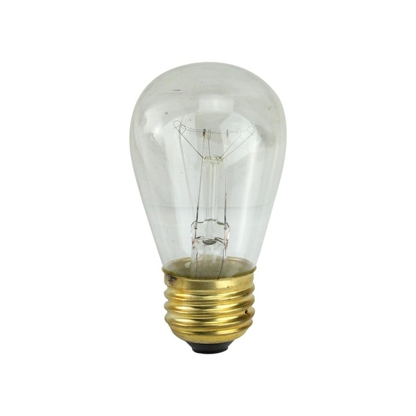 Pack of 25 Incandescent S14 Clear Christmas Replacement Bulbs