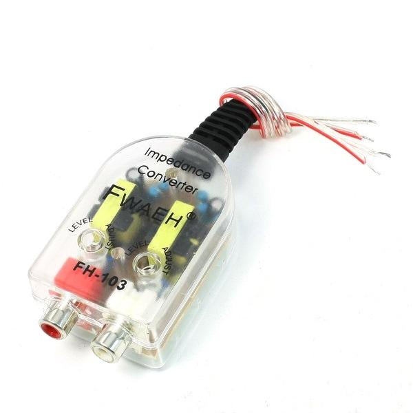 Unique Bargains Auto RCA Line High to Low Adjustale Speaker Level Impedance  Converter