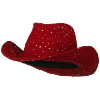 Glitter Cowboy Hat - Red