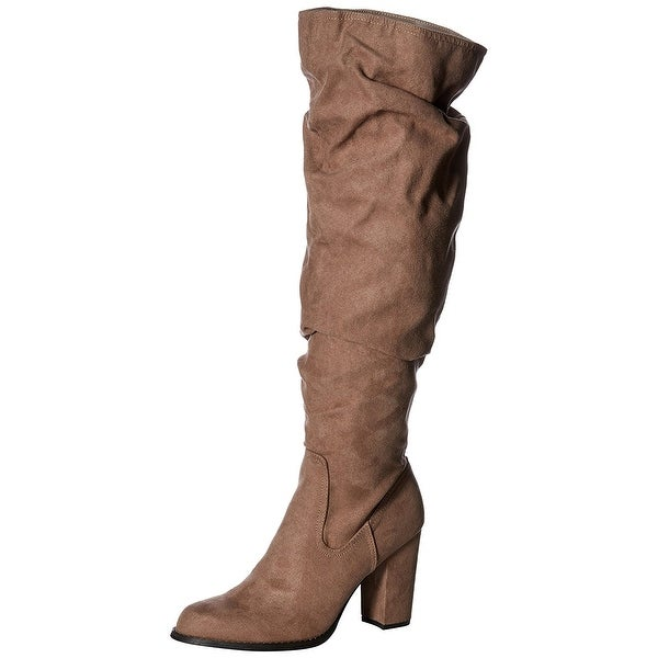 e122db98261 Shop Madden Girl Womens Cinder Fabric Almond Toe Over Knee Fashion ...