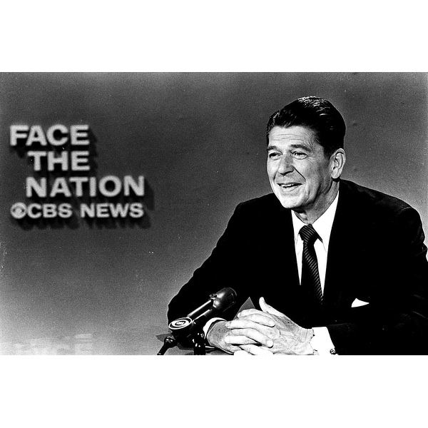 Shop Governor Ronald Reagan In Face The Nation Photo Print Free