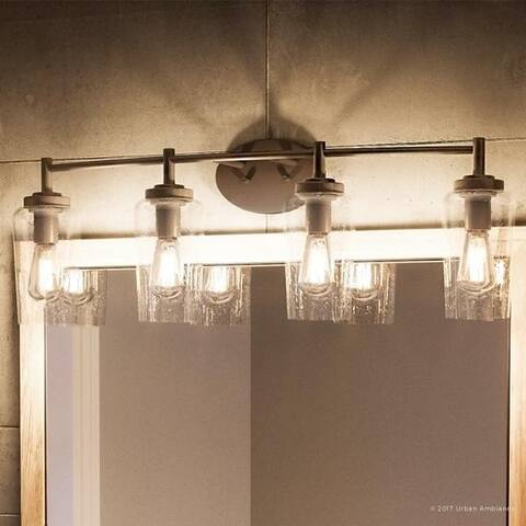"Luxury Vintage Bathroom Vanity Light, 10""H x 32.5""W, with Antique Style, Estate Bronze Finish"