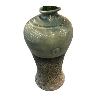 Striking Ceramic Decorative Vase, Multicolor