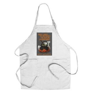 Double Double Toil & Trouble Halloween LP Artwork (Chef's Cotton/Poly Apron)