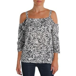 NYDJ Womens Petites Casual Top Crepe Printed (2 options available)