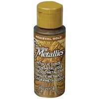130302 Dazzling Metallic Glaze Acrylic Paint 2 Ounces-Medieval Gold