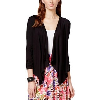 Grace Elements Womens Cardigan Top Open Front Draped